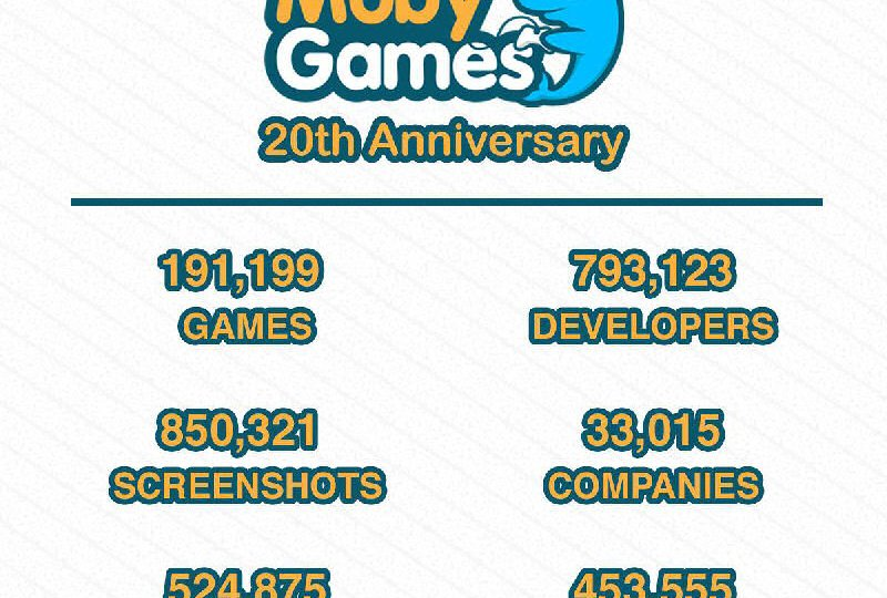 mobygames 20 years - games history - research tool